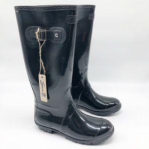 Seven7 British Girl Black Rain Boot